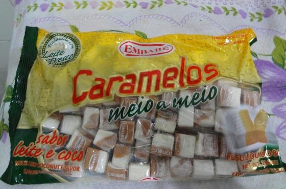 Caramelos embaré leite e coco