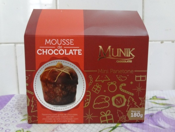 Mini Panetone Mousse de Chocolate Munik