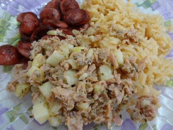 Salada com Atum e Batata Gomes da Costa