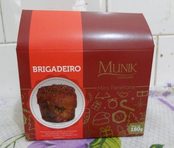 mini panetone Munik brigadeiro