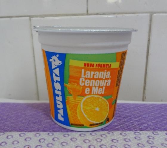 iogurte laranja, cenoura e mel