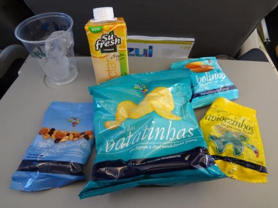 snacks da azul Linha aérea