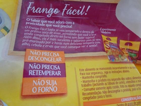 Frango Fácil Sadia - Sobrecoxas