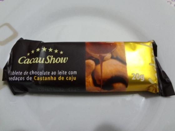 tablete castanha caju cacau show
