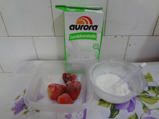 smoothie de morango