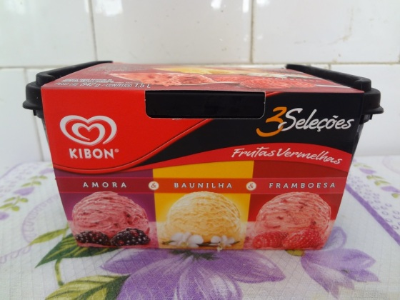 Sorvete 3 Seleções Frutas Vermelhas - Kibon