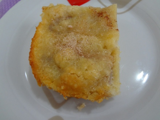 torta fácil de banana e canela