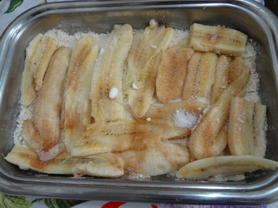 Banana Frita Com Canela Torta Fácil de Banana e Canela