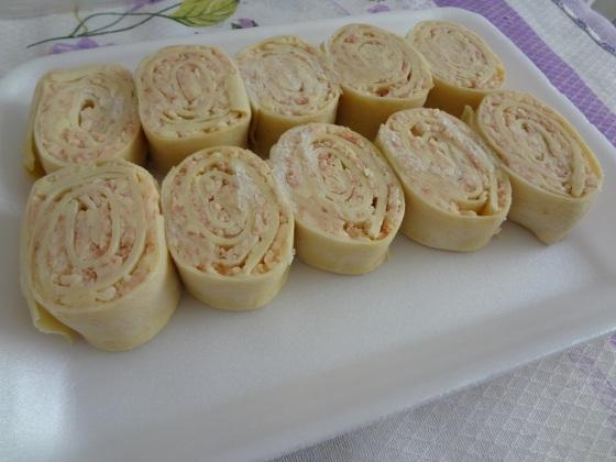 rondeli presunto e queijo