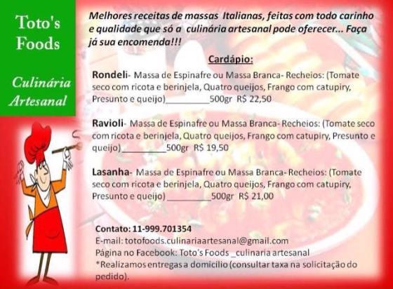 Totó's Food - Culinária Artesanal