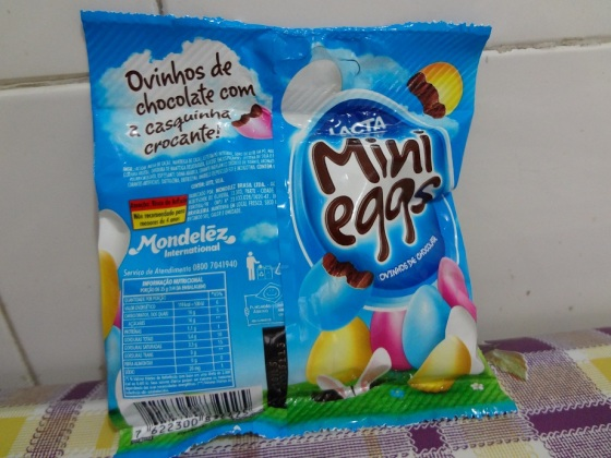 ovinhos de chocolate mini eggs lacta