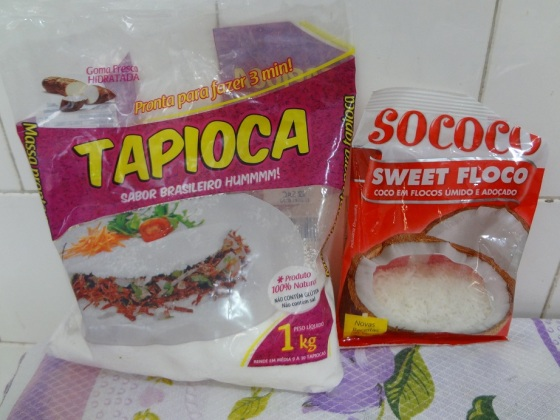 tapioca doce coco ralado com leite condensado