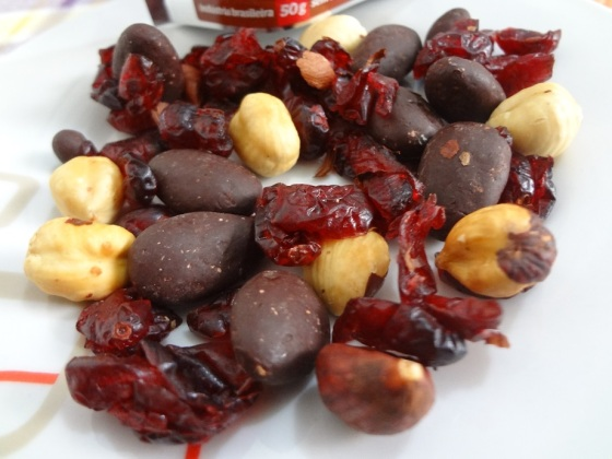 Healthy Snack Cranberry, Avelã e Amêndoa com Chocolate