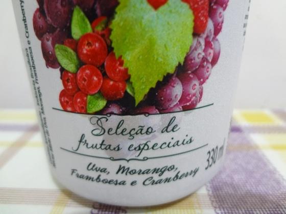 nectar de frutas uva morango framboesa e cranberry