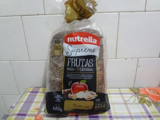 pão nutrella supreme frutas, grãos e castanhas