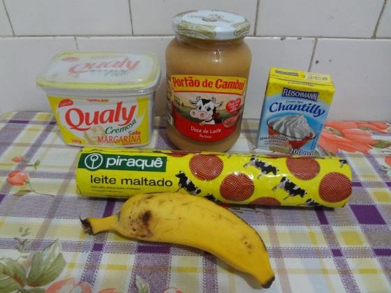 Banoffee de Biscoito de Leite Maltado no Copinho