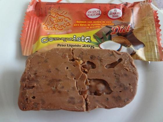 Bombom de Coco com Chocolate Diet- Sabor da Fazenda