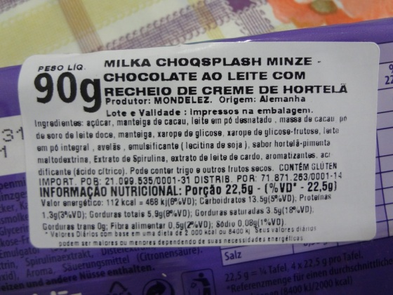 milka choq splash minze