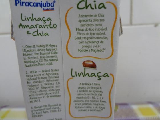 Linhaça, Amaranto e Chia de Maracujá, Pêssego e Laranja - Piracanjuba
