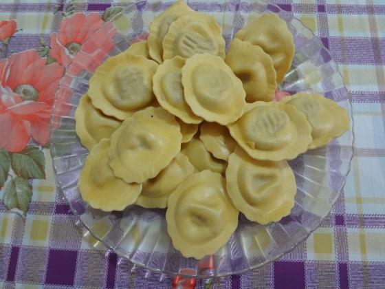 ravioli gorgonzola, nozes e castanhas rana