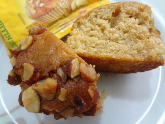 cereale muffin banana e amêndoas