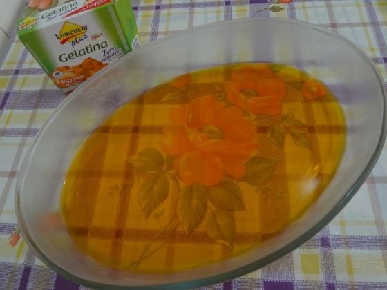 gelatina tangerina lowçucar