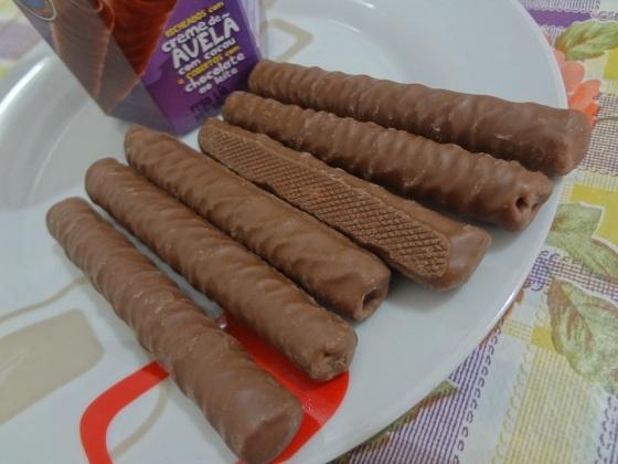 tubetes recheados com creme de avelã barion