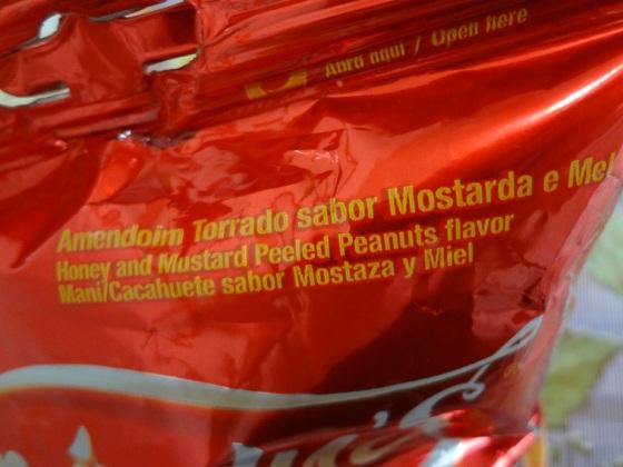 amendoim mostarda e mel
