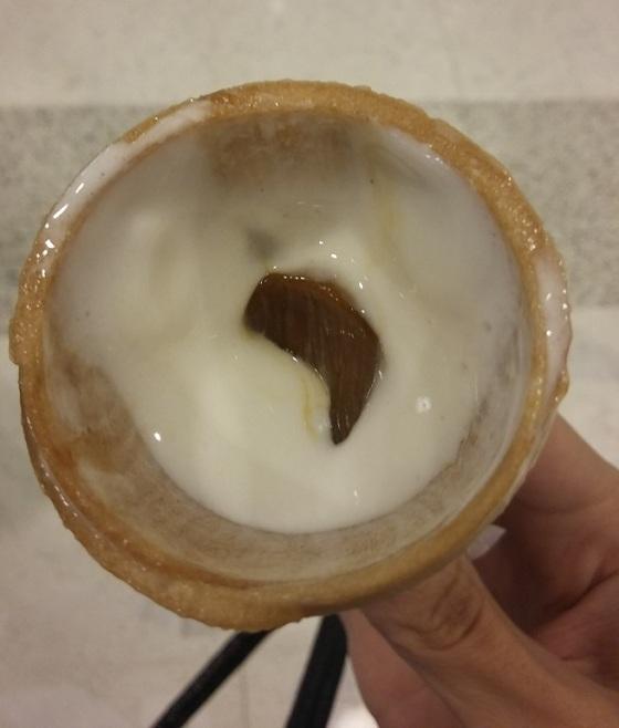 casquinha recheada de doce de leite