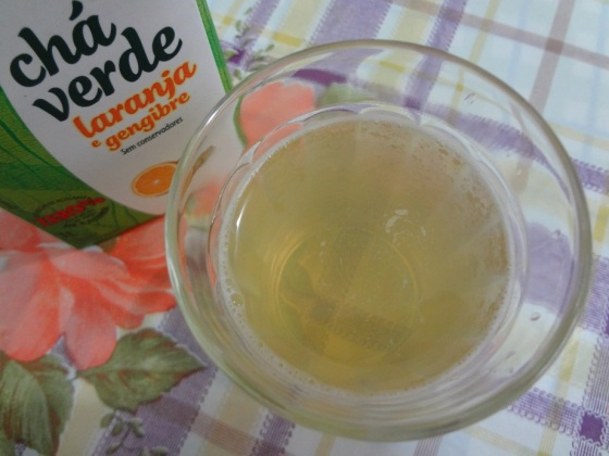 feel good chá verde de laranja e gengibre
