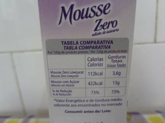 mousse zero açúcar lowçucar