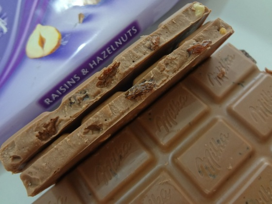 milka raisins and hazelnut
