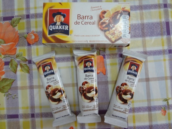 barra de cereal banana com chocolate quaker