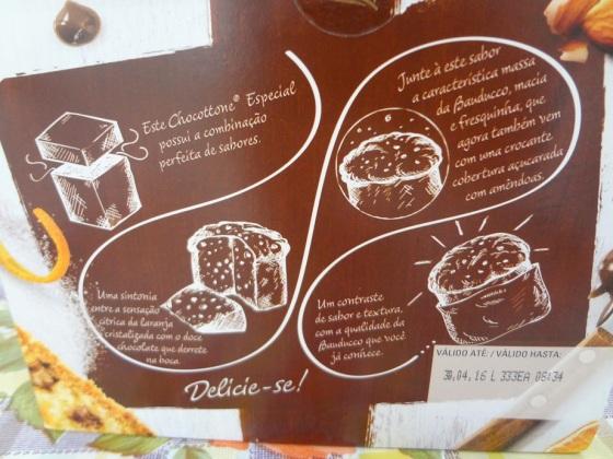 chocotone laranja cristalizada e amêncoas