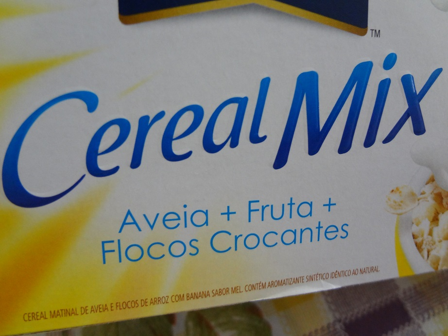 cereal mix banana e mel