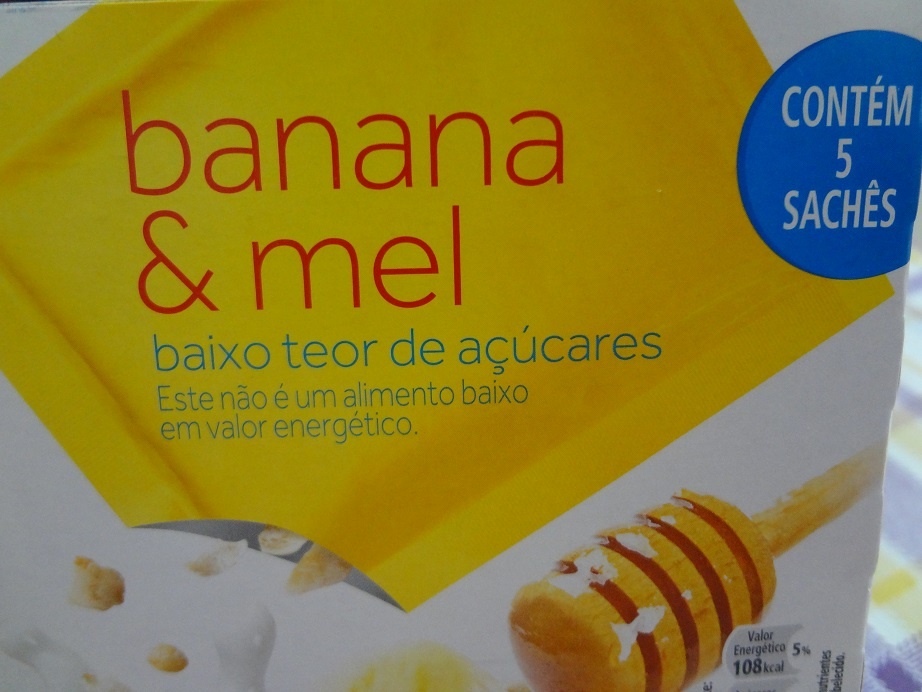 cereal mix banana e mel quaker