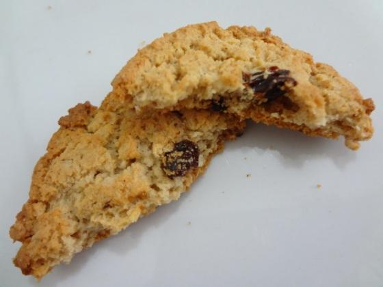 cookies de aveia com passas quaker