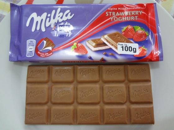 milka strawberry yoghurt