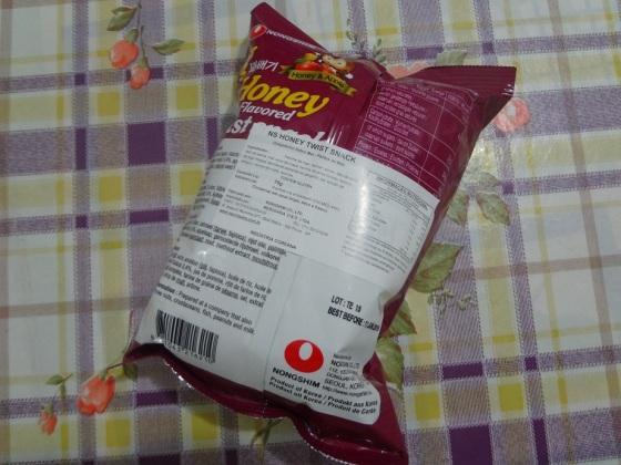 honey flavored twist snack nongshim
