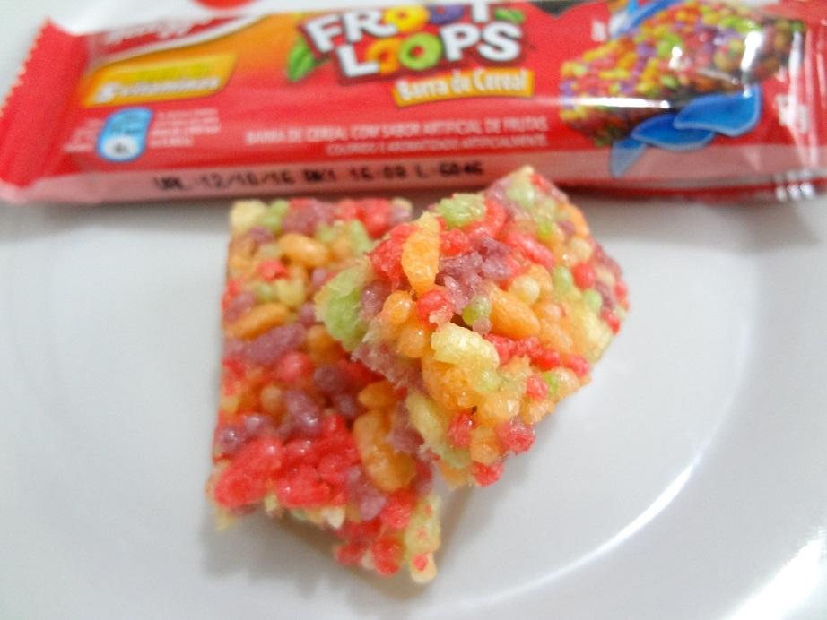 barrinha de cereal froot loops