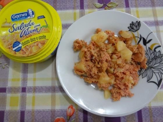 salada com atum batata doce e azeite Gomes da Costa