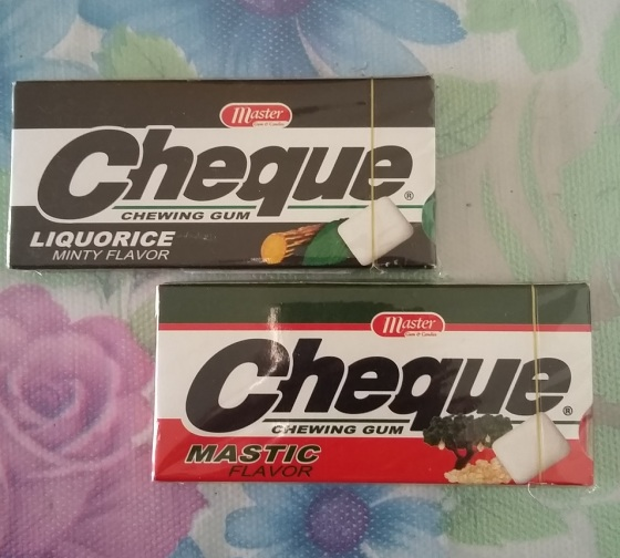 cheque chewing gum