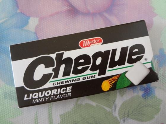 cheque liquorice minty
