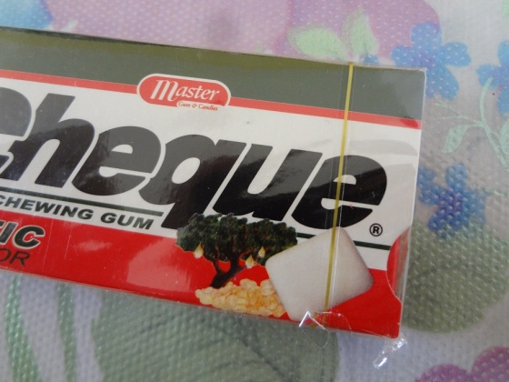 cheque mastic flavor