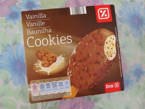 sorvete baunilha cookies supermercados DIA