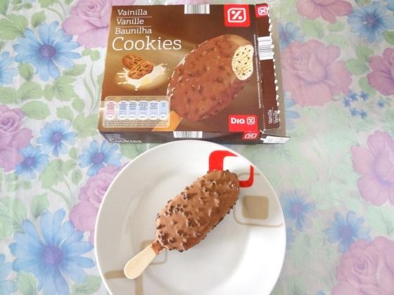 sorvete de baunilha cookies dia supermercados