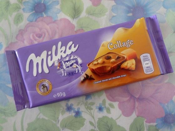 milka collage caramel biscuit