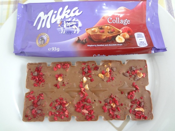 Milka Collage - Raspberry, Hazelnut and chocolate drops