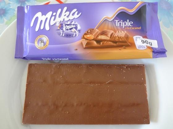 milka triple à la caramel