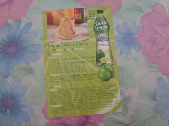 sumo de limão castelo alimentos
